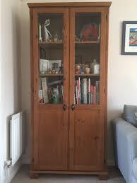 ikea leksvik bookcase cabinet with glass doors in norwich