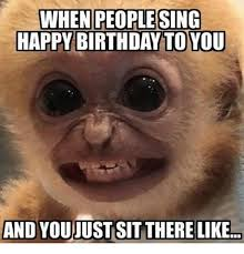 Happy Birthday Meme Images - when people sing happy birthday to you and you just sit there like