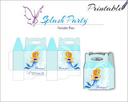 mermaid party favor bags mermaid party decorations goody bags