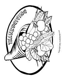 thanksgiving cornucopia free coloring pages for printable