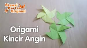 cara membuat origami kincir angin cara membuat origami kincir angin dari kertas mudah youtube