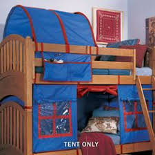 Bunkbeds With Bottom Bunk Tent Mount Your Tension Rod To The - Tent bunk bed
