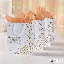 metallic gift bags make wedding gift giving a with these yet wedding
