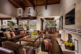 A Spanish Revival Spanish Colonial Mediterranean Living Room - Living room furniture orange county