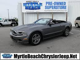 pre owned ford mustang convertible pre owned 2013 ford mustang v6 2d convertible in myrtle
