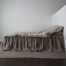 linen bed skirt dust ruffle linen bedskirt handmade by