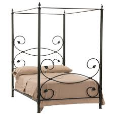 Wrought Iron Canopy Bed Leaf Canopy Wrought Iron Bed Humble Abode