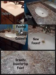 Granite Countertops Bathroom Faux Granite Countertop Completed Diy Projects Pinterest