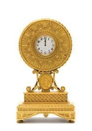 Gilt Bonze Enameled Portrait E F Caldwell Gilt Bronze Mantel Clock In The Neoclassical Style