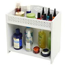Bathroom Shelf Organizer by Amazon Com 2 Tier White Bathroom Shelf Rack Countertop Storage