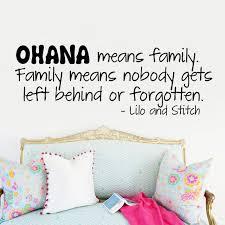 que signifie chambre ohana signifie famille wall sticker cours vinyl sticker papier