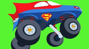 monster trucks races cartoon cars watch superman iron man captain america superheroes cars vs fog