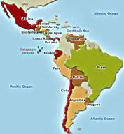 of south america with capitals in