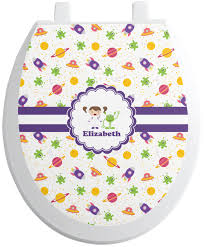 themed toilet seats space themed toilet seat decal personalized potty