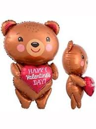 s day teddy s day teddy with heart 28 supershape foil balloon