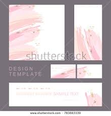 invitation card design template for event identity style design template invitation company stock vector