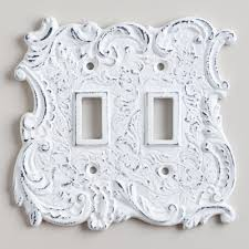 fancy light switch covers white cast iron double switch plate 9 99 world market 4 5