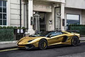 golden lamborghini chrome gold lamborghini aventador sv roadster how to ruin a