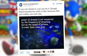 Sonic The Hedgehog Meme - 12 times the official sonic the hedgehog twitter was 2 fast 4 us