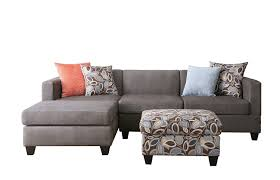 Microfiber Sectional Sofas Bobkona Poundex Simplistic Collection 3