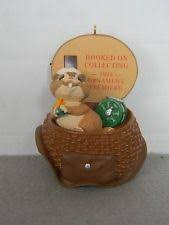 1995 hallmark hooked on collecting ornament premiere ebay