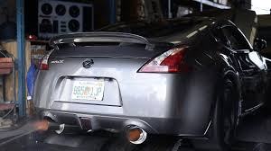 nissan 370z wheel spacers nissan 370z twin turbo dyno flames burnout all the fun youtube