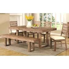 distressed wood table and chairs acacia wood dining table set open base distressed acacia wood dining