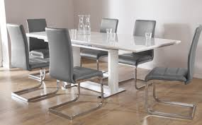 Extending Dining Room Table Tokyo White High Gloss Extending Dining Table And 6 Chairs Set