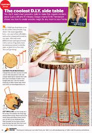How To Make A Wood Stump End Table by Diy Tree Slab Side Table In Redbook Emily Henderson