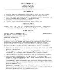 history major resume this oil rig manager resume was created for a client with 15 years