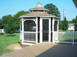 screened gazebo on low maintenance deck archadeck outdoor living