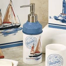 nautical bathroom accessories sets nautical bathroom accessories