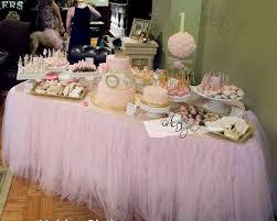 pink tutu table skirt custom made tulle tableskirt for