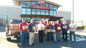lowell hannaford join forces to bring thanksgiving dinner