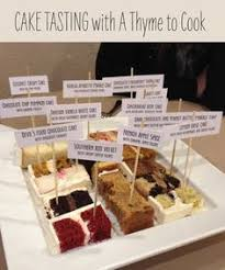 wedding cake tasting cake tasting great idea as to not to make so many mini s