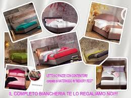 tuo materasso letto con contenitore e materasso in omaggio la biancheria