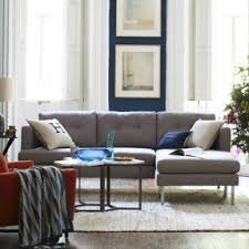 Light Gray Sectional Sofa by Small Scale Sectional Sofa Foter