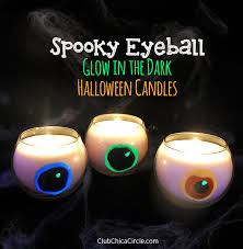 spooky eyeball glow in the dark halloween candles club chica