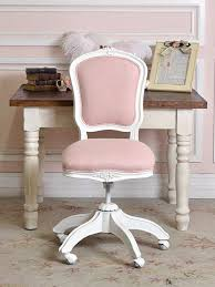 pink linen office chair For all my girly girls  Home