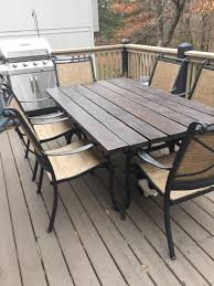 outdated patio set rustic makeover french cafe rustic french