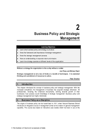 chapter 2 business policy and strategic management