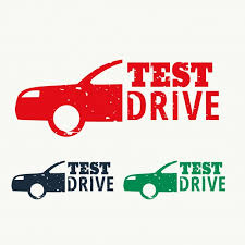 test drive test drive sign st vector free