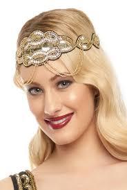 flapper headband black gold great gatsby flapper headband vintage inspired 1920s