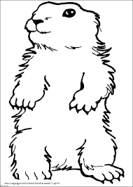 Groundhog Coloring Pages Free Groundhog Day Groundhog Coloring Groundhog Color Page