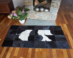 black and white cowhide patchwork rug brazilian cowhide rug