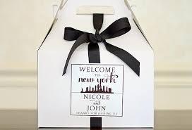 Nyc Wedding Favors by New York City Wedding Welcome Box Sticker City Skyline Gable