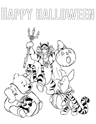 winnie pooh halloween coloring u0026 coloring pages