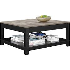 Black L Tables For Living Room Square Coffee Table In Black And Sonoma Oak 5047196pcom