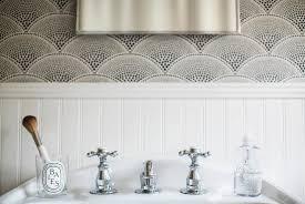 wallpapered bathrooms ideas half wallpapered bathroom walls design ideas