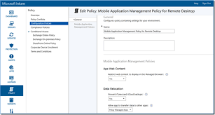 microsoft access for android intune mobile application management for remote desktop